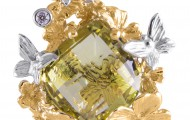 1 Бр Кр 57А 2.0 3/5 (30-40) 0.032ct, 1 Цитрин ромб 16.0*10.0 Green-Gold 7.990ct, вес: 9,47 гр.