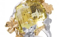 1 Цитрин ромб 16.0*10.0 Green-Gold 7.920ct, 1 Бр Кр 57А 2.0 3/5 (30-40) 0.032ct, вес: 8,42 гр.
